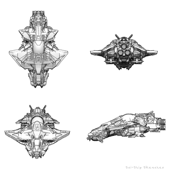 sci-ship-sketches